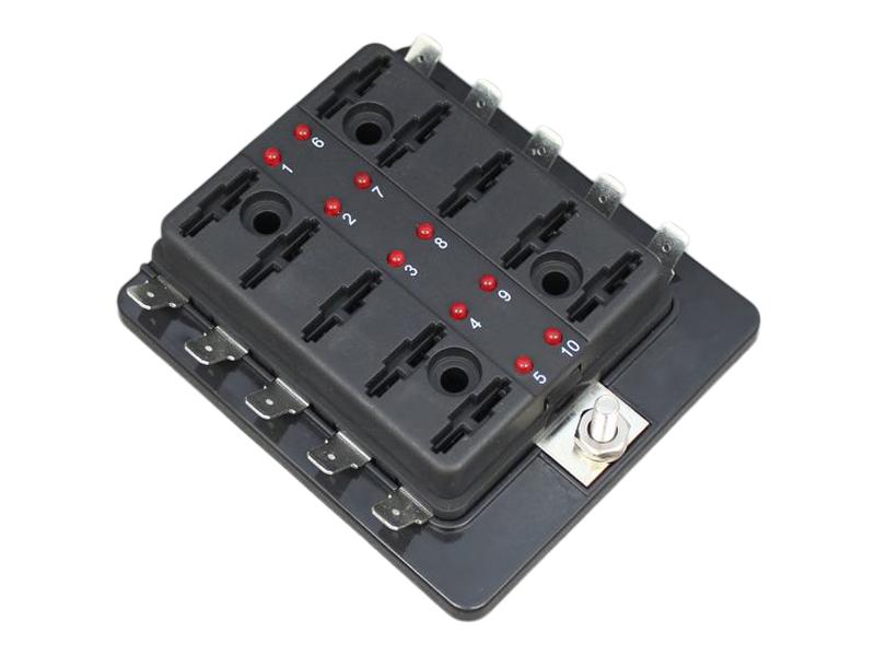 standard blade fuse box leds way volt planet